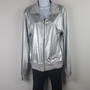 American Apparel light weight silvier jacket